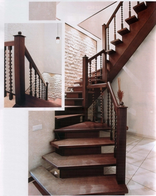 Wood Railing Kits Home Interior Staircase Ideas Pics 04