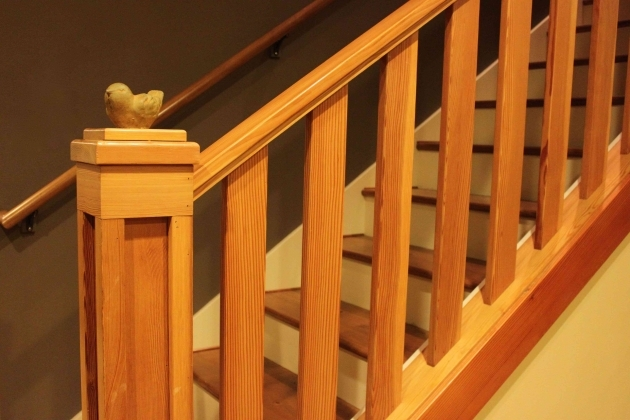 Wood Railing Stairs Idea Image 75
