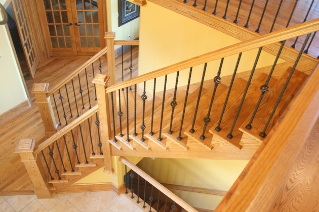 Wooden Staircase Designs With Compact Railings Pictures 89