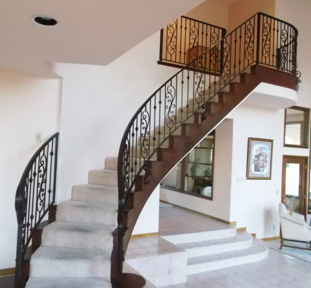 Wrought Iron Stair Railing Large Home Inspiration Ideas Photos 98