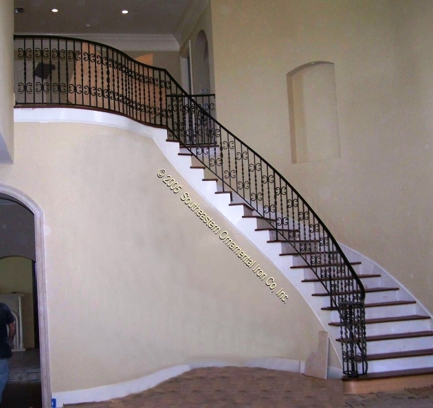 Wrought Iron Stair Railing Luxury Home Design Images 09