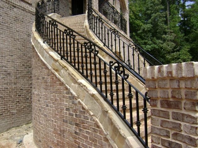 Wrought Iron Stair Railing Outdoor Fence Pictures 97
