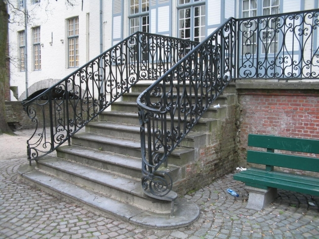 Wrought Iron Stair Railing Outdoor Image 92