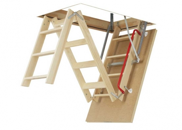 Attic Pulldown Stairs Wooden Insulated Attic Ladder Photo 24