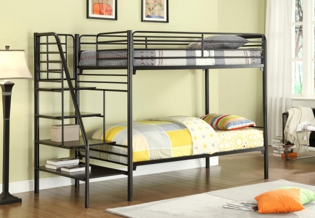 Black Metal Cheap Bunk Beds With Stairs Pictures 75