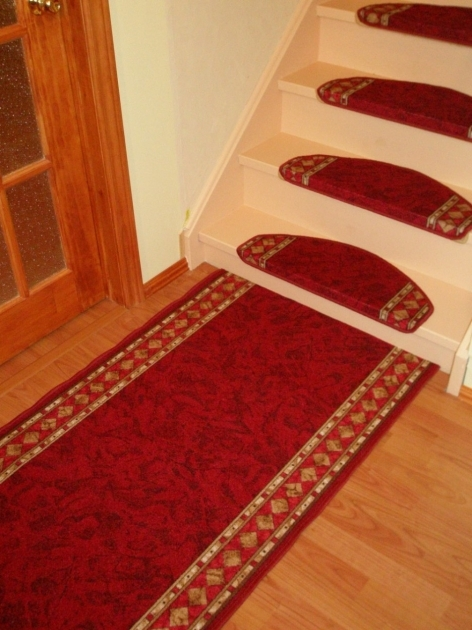 Carpet Stair Treads Inspiring Home Interior Design With Beige Stair Red Tread Mats Picture 60