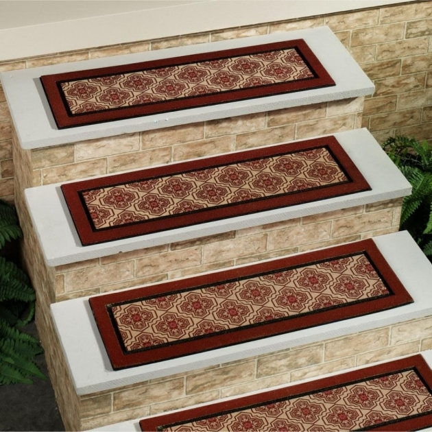 Carpet Stair Treads With Classic Colors Indoor Images 00