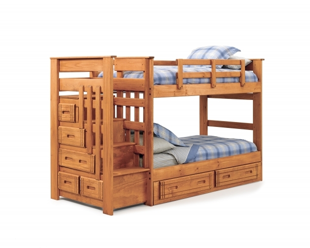 Cheap Bunk Beds With Stairs Twin Over Queen Image 58