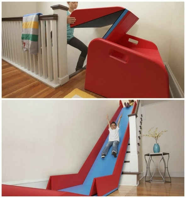 Foldable Slide For Stairs   Interior Stairs Into A Slide Rider Picture 39