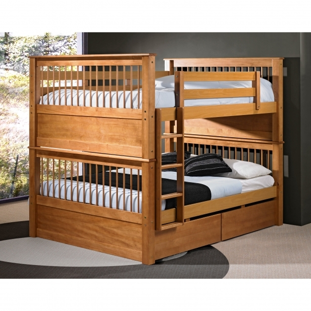 Full Over Queen Bunk Bed With Stairs For Boys Photo 27