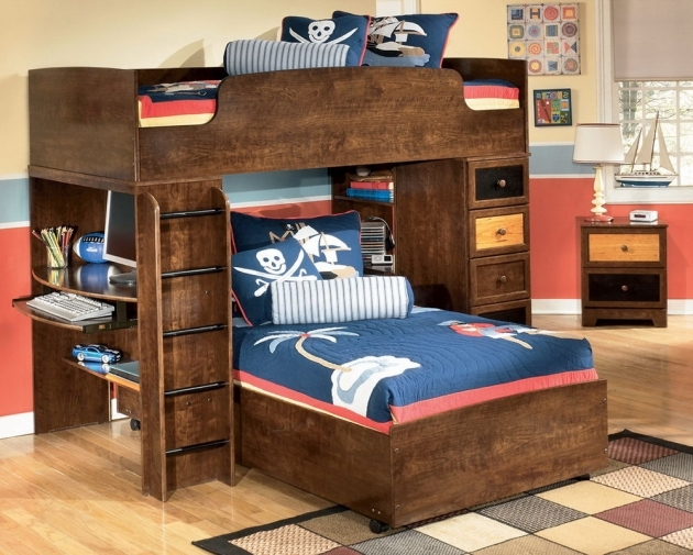 Full Over Queen Bunk Bed With Stairs For Home Design Ideas Images 37