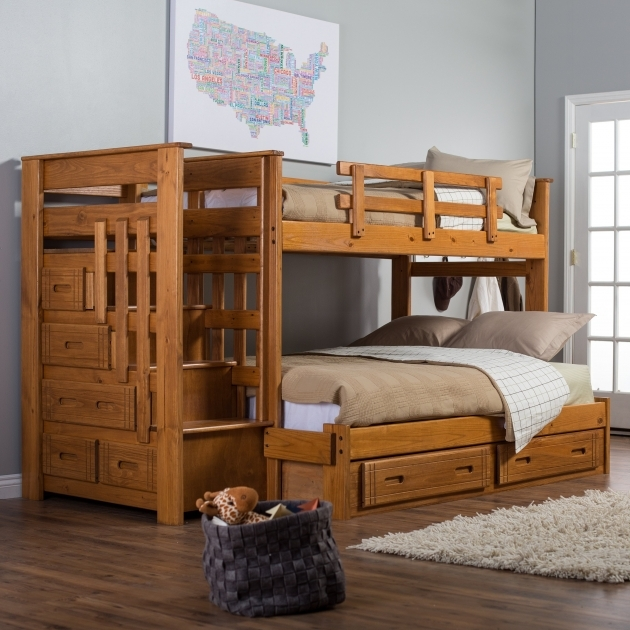 Full Over Queen Bunk Bed With Stairs For Home Design Kids Bedroom Picture 37