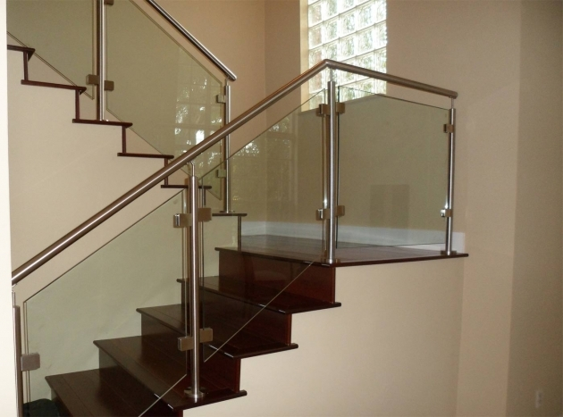 Glass Stair Railing Modern Stair Pole Images 29