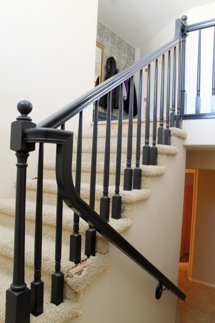 How To Replace Stair Spindles   The Banister Is Painted Photo 94