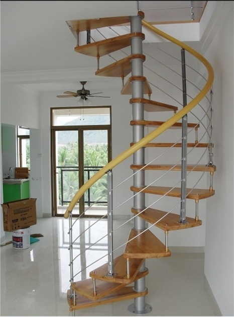 Interior Cheap Spiral Staircase Stainless Steel Glass Railing Stair Pictures 04