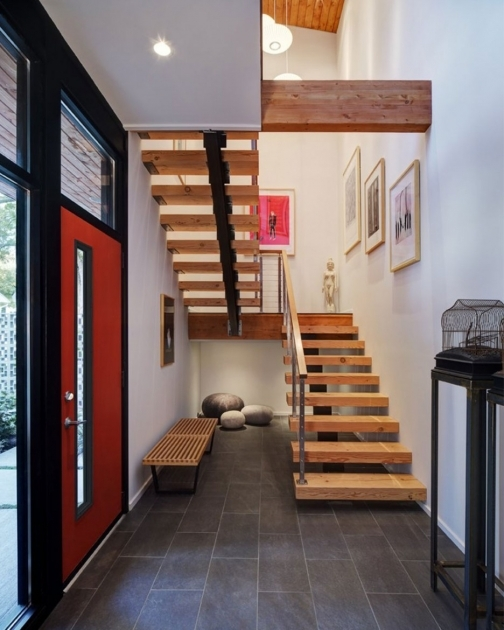 Interior Stair Design For Small House Decoration Including Stylish Stairs Design Combined Hard Wood Stepping Also Wire Baluster Photo 85