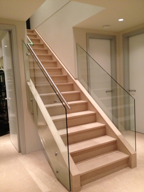 Interior Stair Railing Kits Glass Design Contemporary House Photo 53
