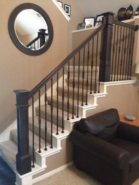 Iron Balusters Stair Makeover And Wrought Iron Stair Pole Pictures 42