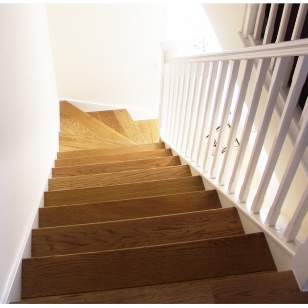 Oak Cladding Straight Stair Tread Kit Photo 83