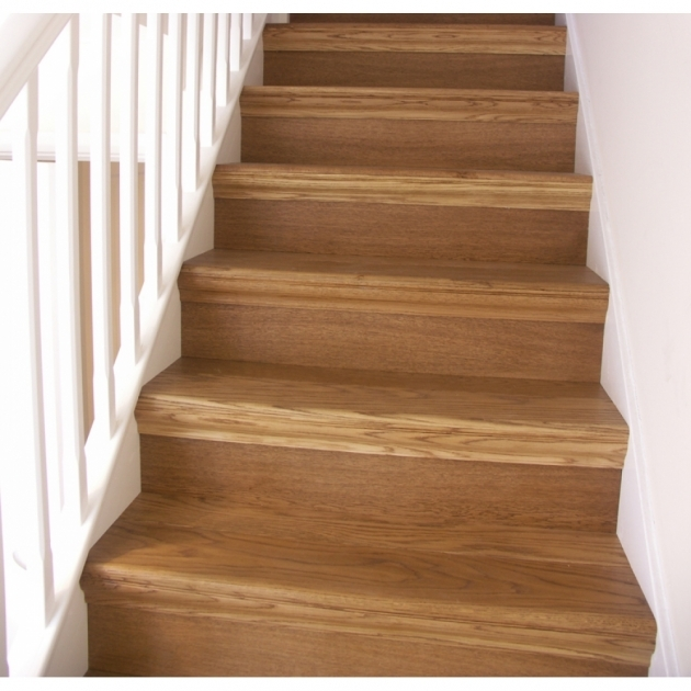 Oak Cladding Straight Stair Tread Kit Pictures 37