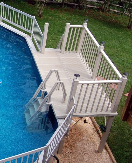 Quality And Strength Above Ground Pool Stairs Image 32