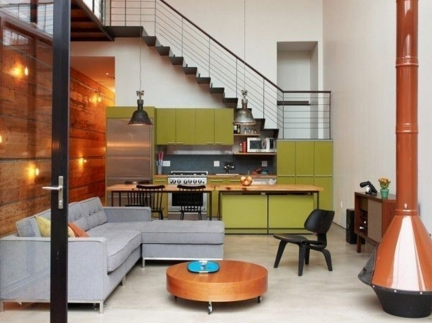 Stair Design For Small House Living Room Wall Decor Ideas For Small With Kitchen Combo And Green Interior Design Pictures 44