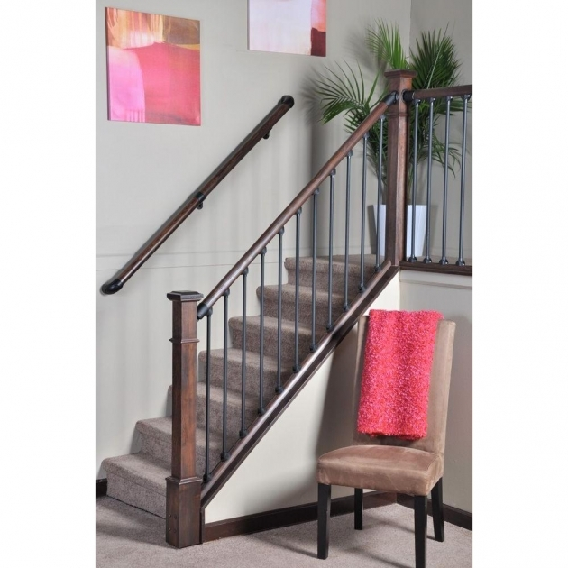 Stair Simple Axxys 8 Ft Interior Stair Railing Kits Pictures 35