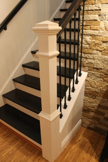 Staircase Railing Remodel Ideas About Iron Balusters Image 09