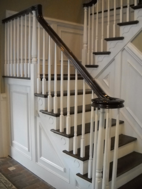 Staircase Railing Remodel Wood Stairs And Rails, Iron Balusters Stairway Renovation Image 60