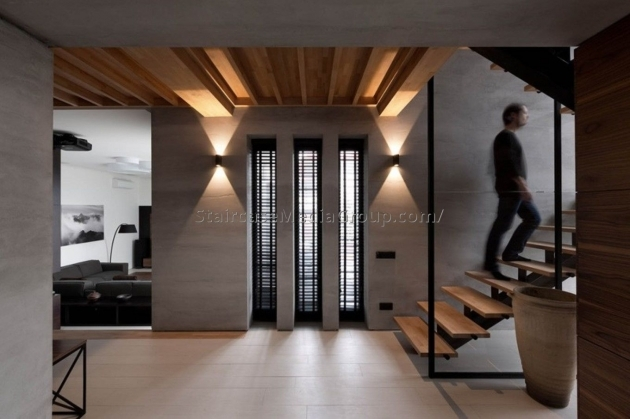 Stairs Without Railing For Modern Home Decor Images 05
