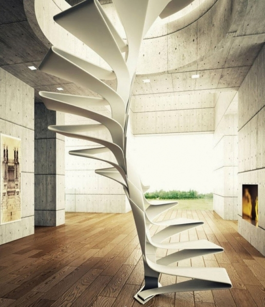 Stairs Without Railing Home Interior Architecture Design Feat Modern Spiral Staircase Picture 16