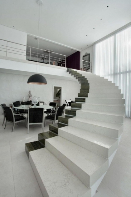 Stairs Without Railing Ideas For Your Home With White Decor Image 31