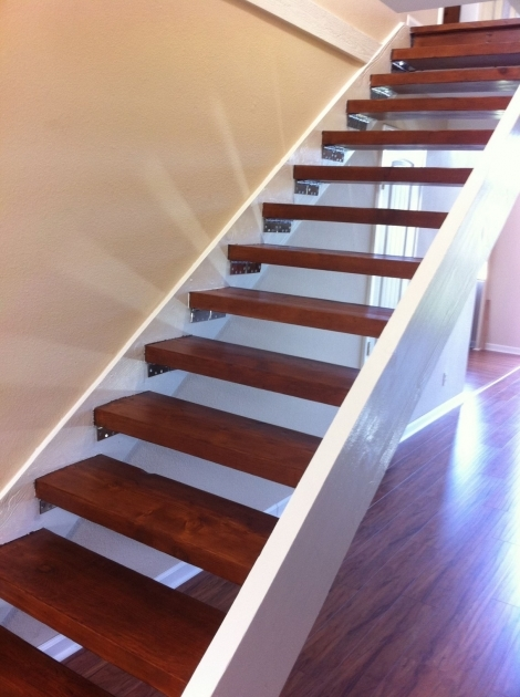 Stairs Without Railing Modern Minimalist Straight Indoor Staircase Design With Brown Polished Teak Photos 03