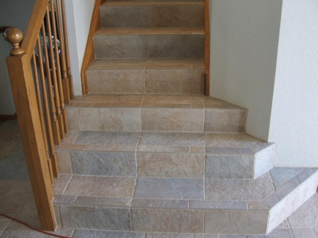 Tiling Stairs Edge Wood Stairs Tile Pictures 54