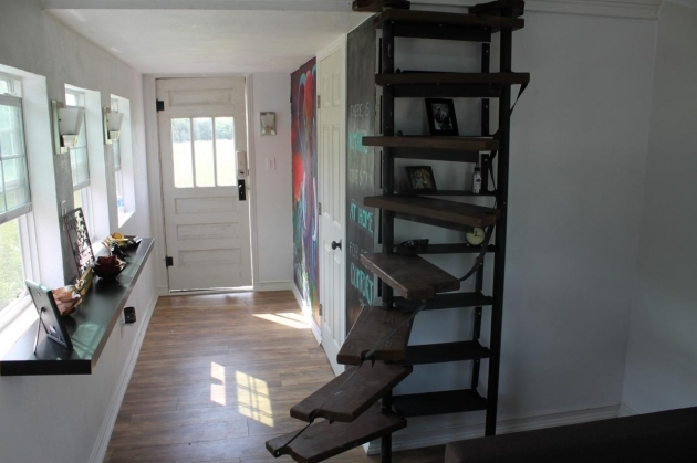 Tiny House Spiral Staircase HTHBL104H Pictures 58