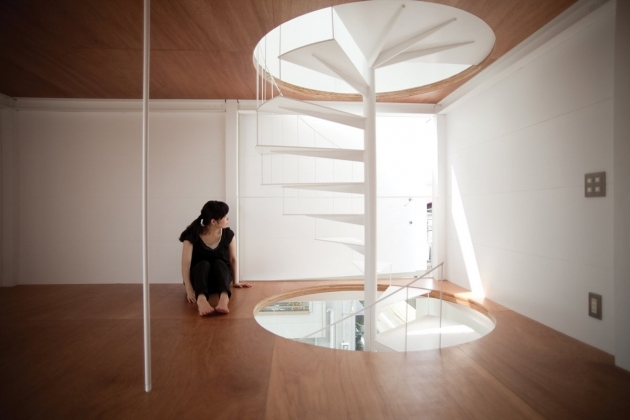 Tiny House Spiral Staircase Photo Ken Sasajima Photos 91