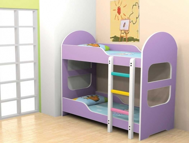 Toddler Bunk Beds With Stairs And Violet Color Ideas Picture 97