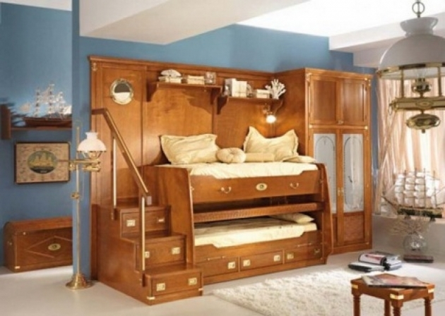 Unique Wooden Toddler Bunk Beds With Stairs And Storage Photo 27