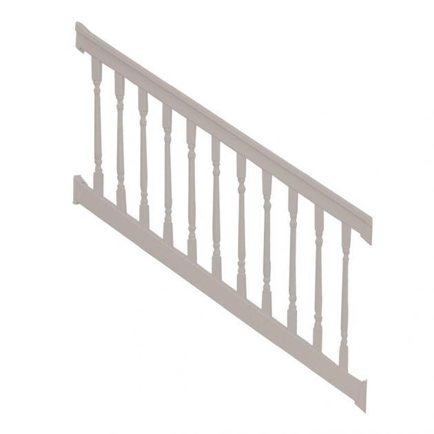 Vinyl Stair Railing Kits Weatherables Vanderbilt 36 In X 96 In White Picture 36