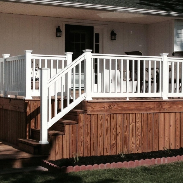 Weatherables Vanderbilt 35 Ft X 96 In White Vinyl Stair Railing Kits Photo 23