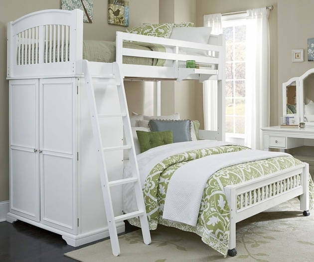 White Full Over Queen Bunk Bed With Stairs Ideas Images 78
