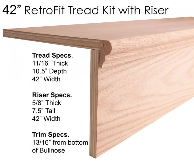 Wood Stair Tread Kit Steps Retrofit Images 56