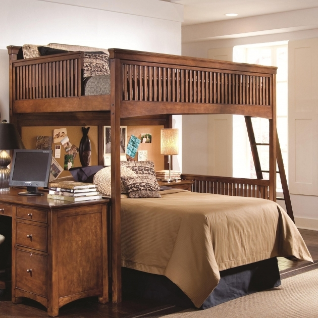 Wooden Full Over Queen Bunk Bed With Stairs Pictures 04