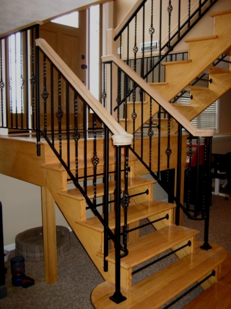 Wrought Iron Interior Stair Railing Kits Virginia Appalachian Ironworks Images 04