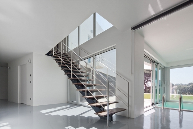 Modern Stair Rails Condo Home Design Ideas Photo 43