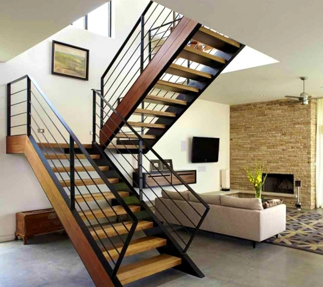 Modern Stair Rails Design Ideas Wood  Steel And Steps Photos 51