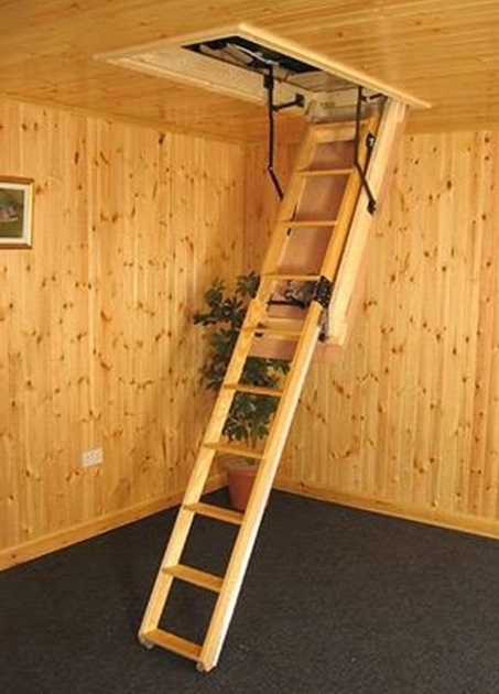 Wooden Folding Attic Staircase Ideas Small Design Photo 31