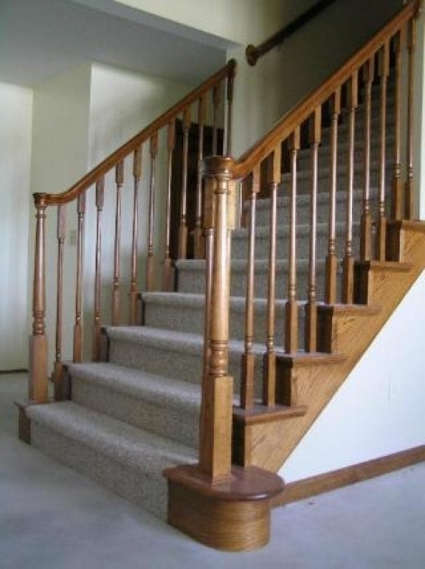 Carpeting Stairs With Spindles Basement Stair Picture 53