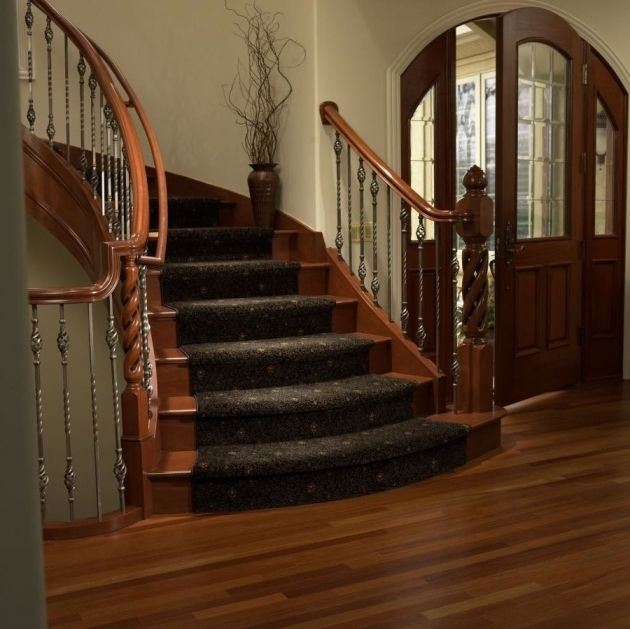 Carpeting Stairs With Spindles On Curved Stairs Solution Picture 48
