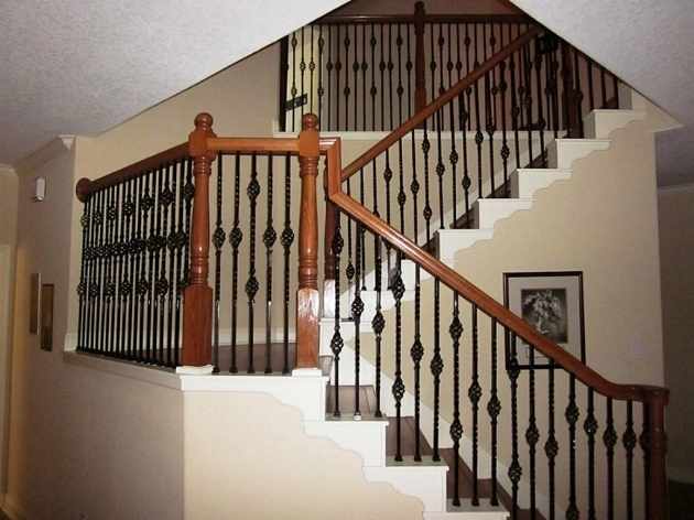Iron Balusters Stairs Design Photo 97